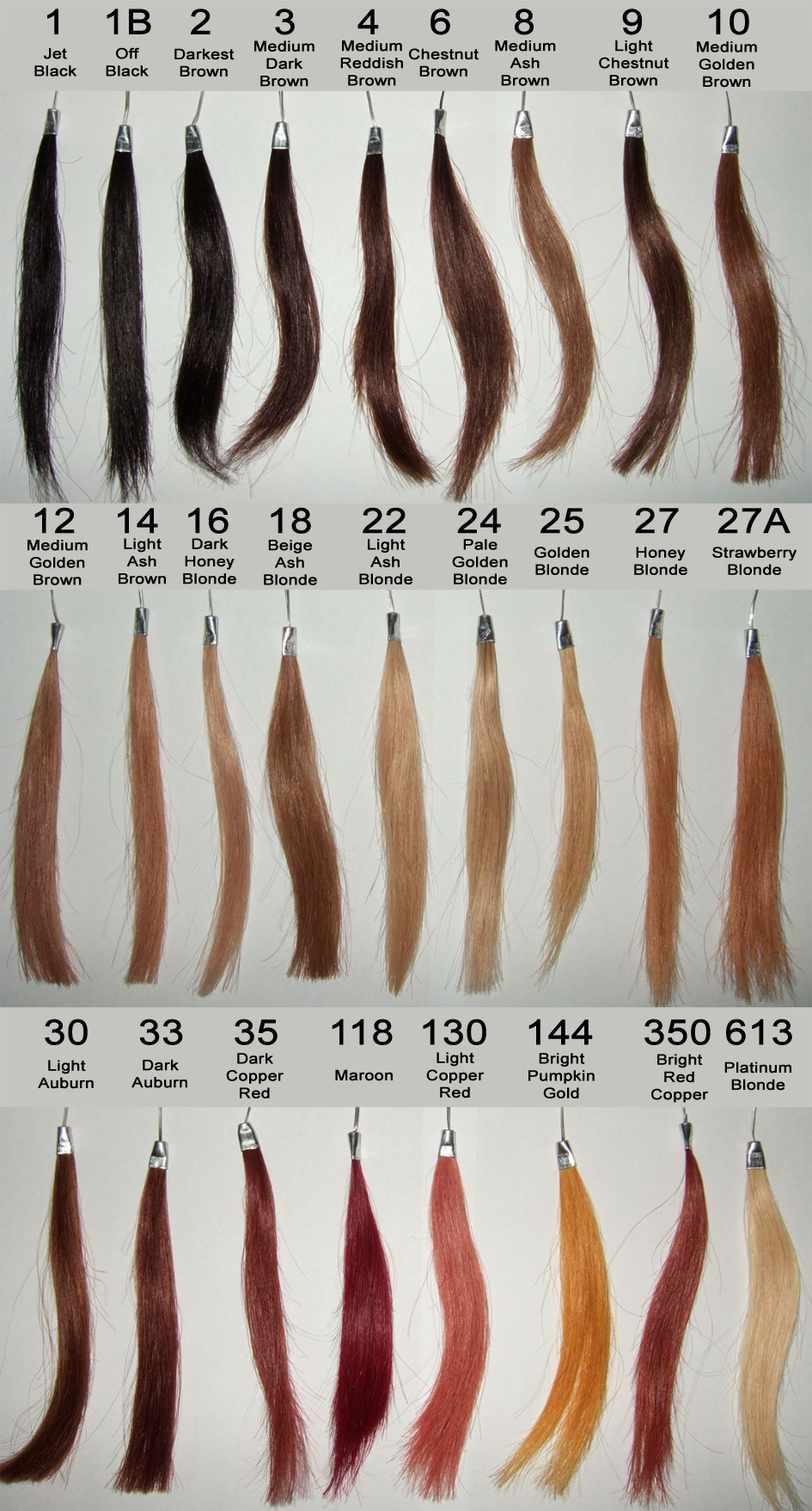Remy Hair Color Chart Wealthy Hair