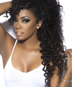 Island Curly Human Virgin Remy Hair Weave Extensions Wealthy Hair
