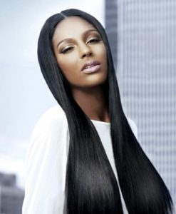 Virgin Remy Human Hair Weave Extensions Yaki Relaxed Straight Wealthy Hair