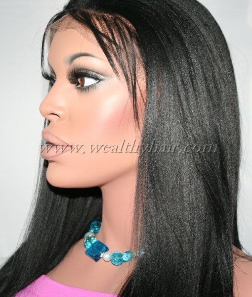 Dana Yaki Straight Synthetic Lace Front Wig 12 Color 1 Jet Black