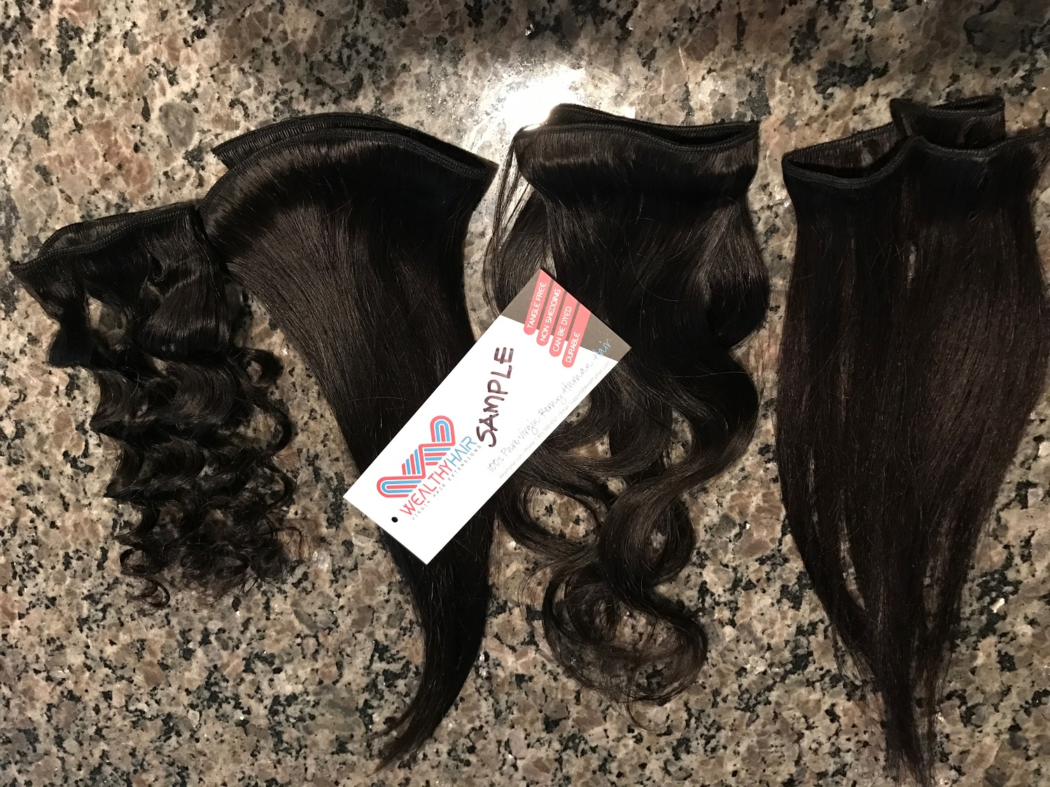 Sample Wholesale Virgin Hair Weave Wealthy Hair