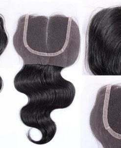 Brazilian Virgin Remy Human Hair Lace Closure Body Wavy Wealthy Hair