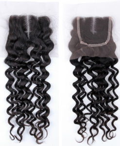Brazilian Virgin Remy Human Hair Lace Closure Island Curly Wealthy Hair