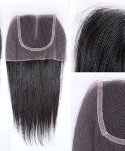 Brazilian Virgin Remy Human Hair Lace Closure Natural Straight Wealthy Hair
