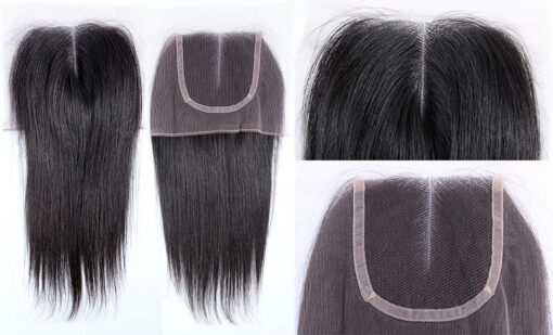 Brazilian Virgin Remy Human Hair Lace Closure Natural Straight Wealthy Hair