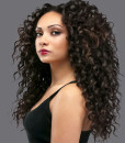Island Curly Virgin Remy Human Hair Weave Extensions Wealthy Hair