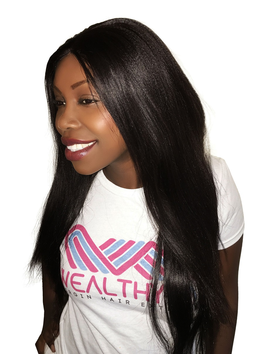 Virgin Remy Sew In Weave Hair Extensions Yaki Relaxed Straight