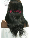 Virgin Brazilian fiji Wave full lace front wigs