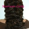 virgin brazilian Moroccan Curly  full lace front wigs wealthy Hair