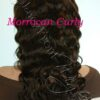 virgin peruvian Moroccan Curly  full lace front wigs wealthy Hair